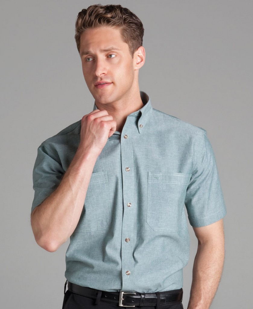 S/S COTTON CHAMBRAY SHIRT