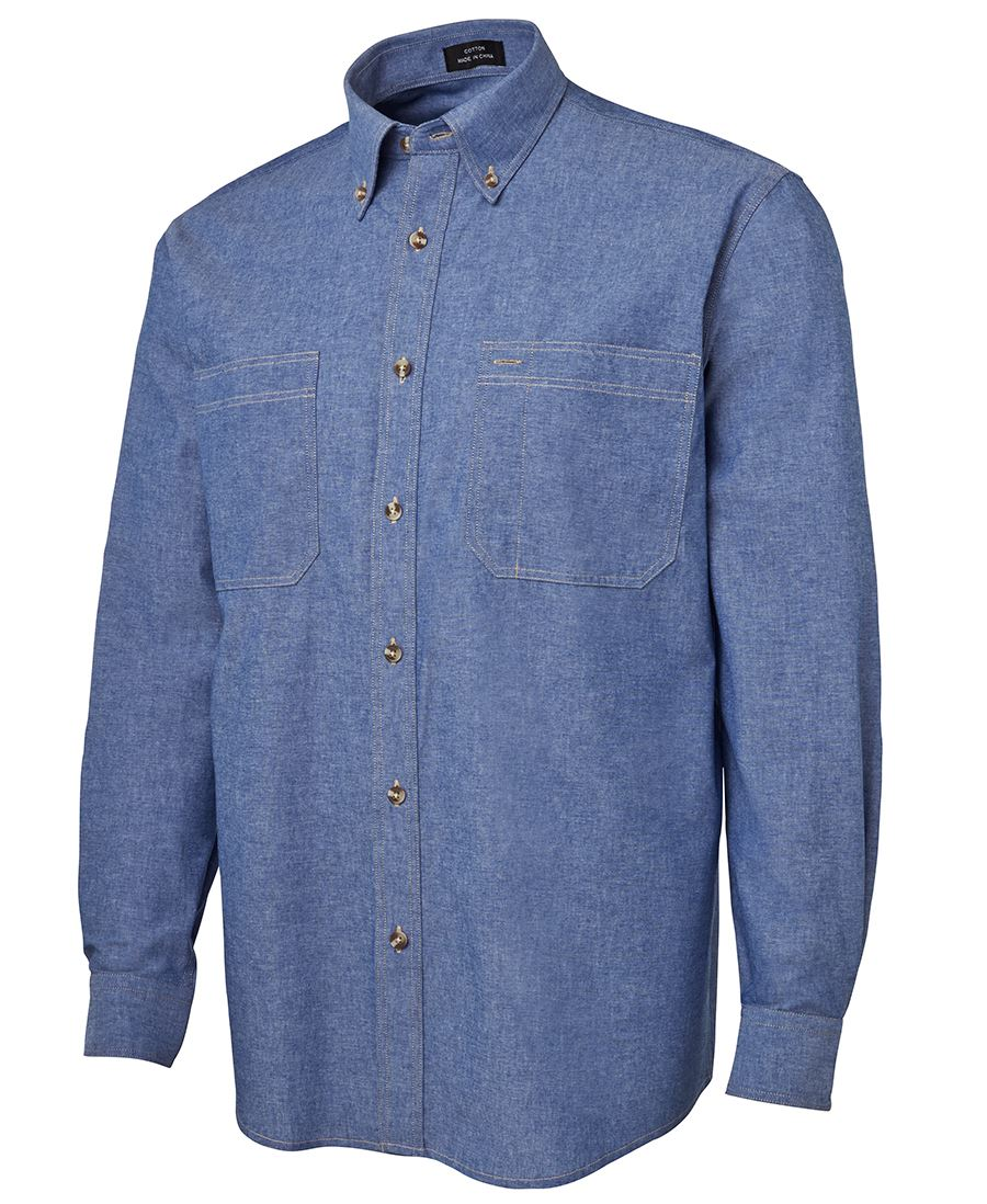 L/S COTTON CHAMBRAY SHIRT