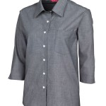 FCW - LADIES 3/4 FINE CHAMBRAY SHIRT