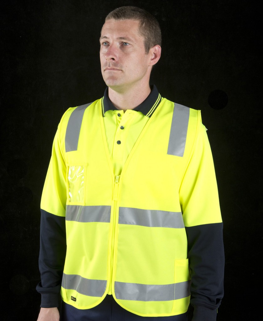 HI VIS ZIP SAFETY VEST (D+N)