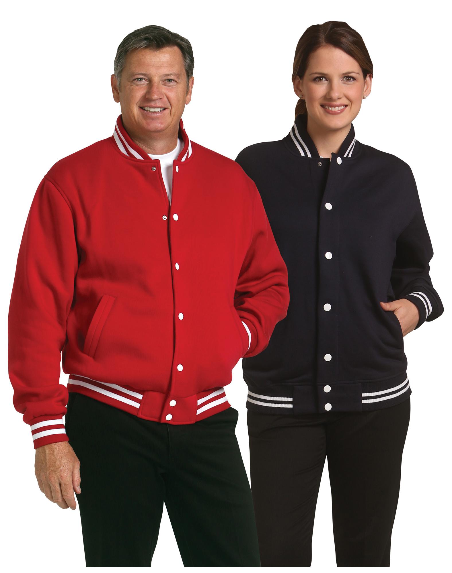 Unisex Fleece Varsity Jacket