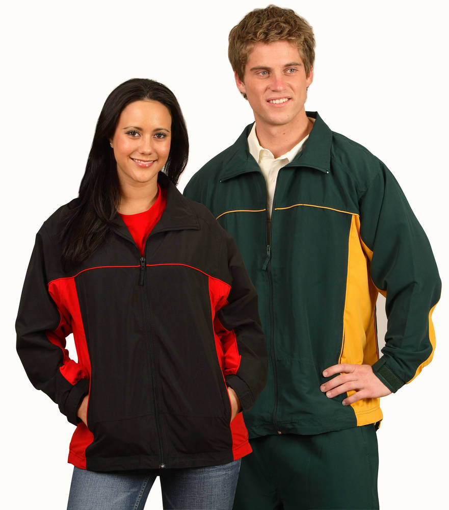 ADULTS FULL ZIP JACKET WITH PIPING AND SIDE PANELS