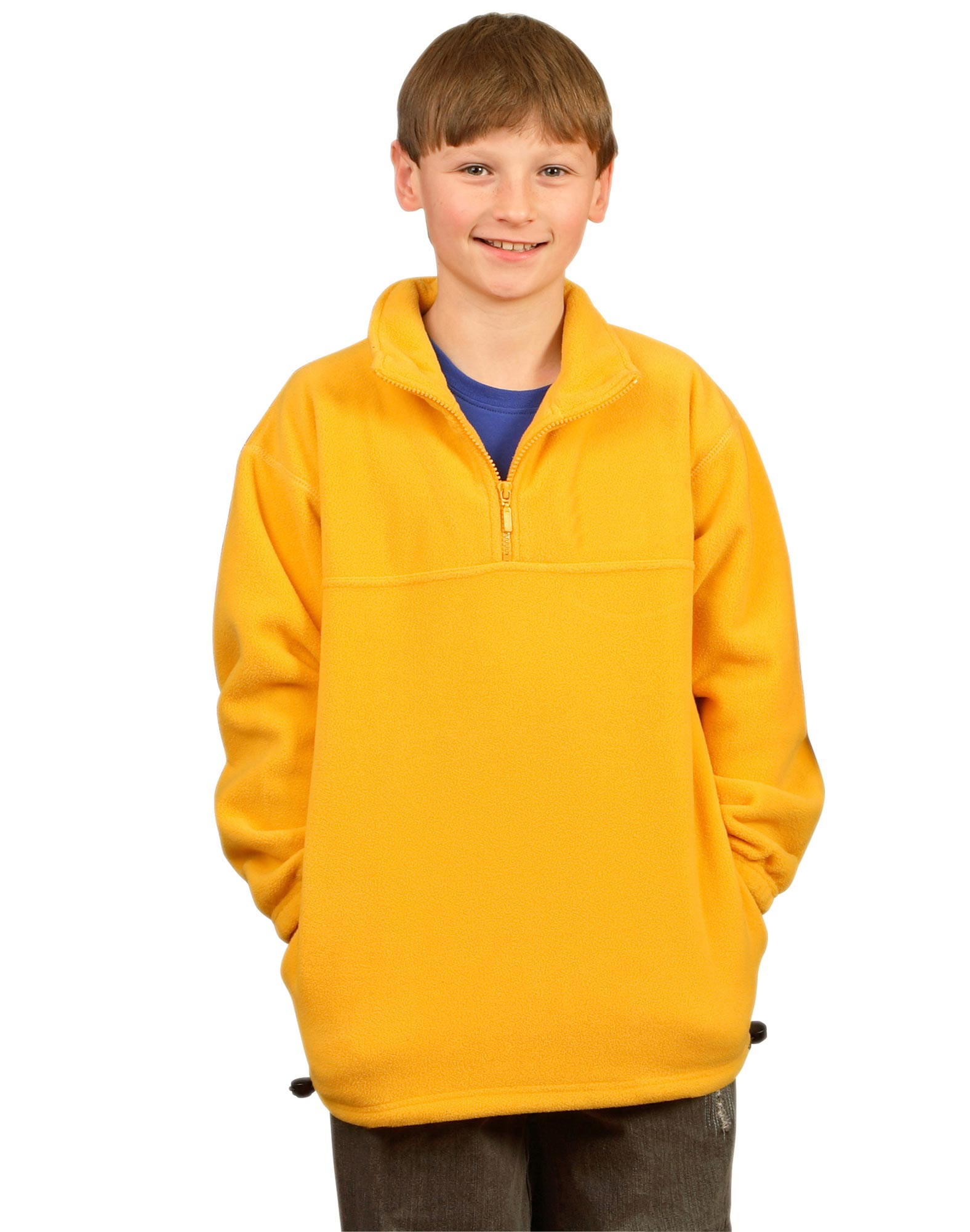 KIDS HALF ZIP POLAR FLEECE PULLOVER