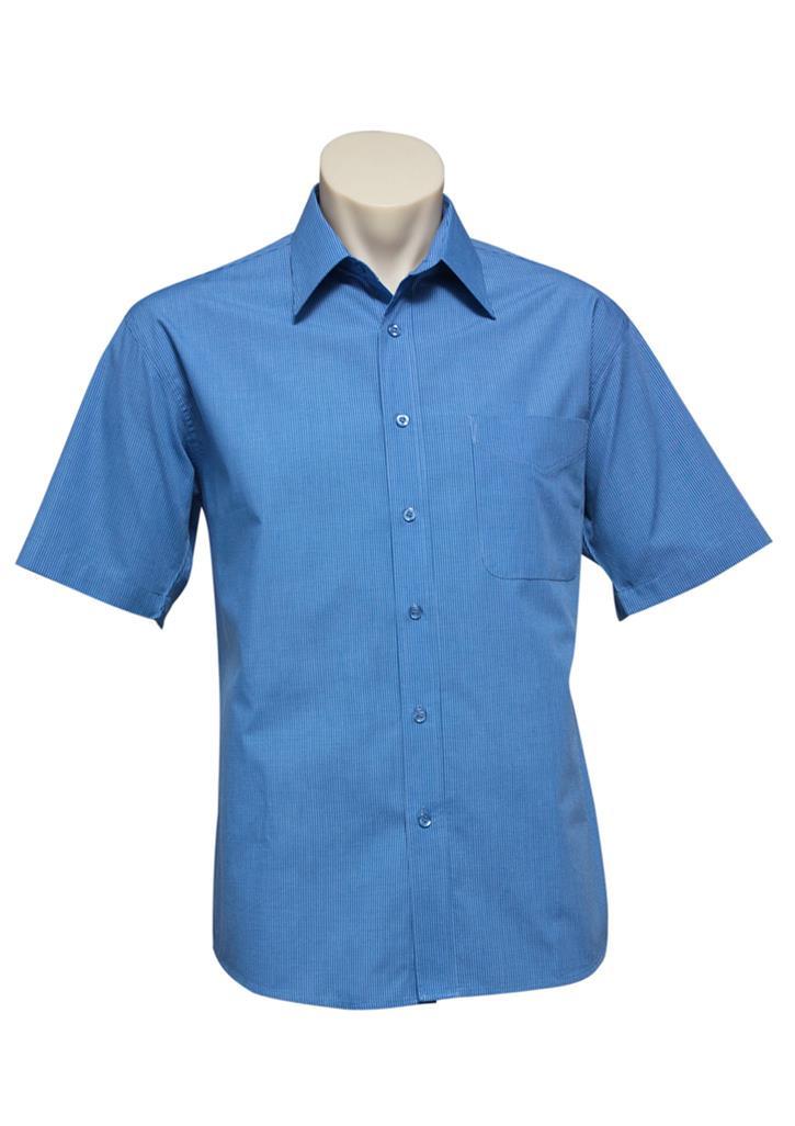 Mens S/S Micro Check Shirt