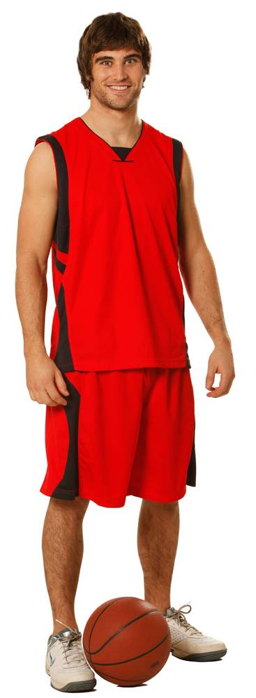 Adults CoolDry® Basketball Contrast Colour Shorts