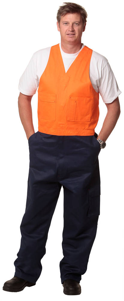 Heavy cotton drill safety overall