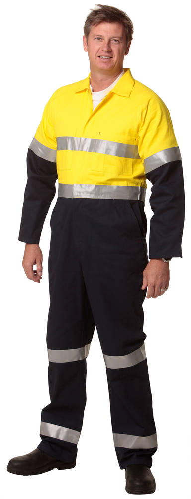Two tone cotton overall with 3m tapes
