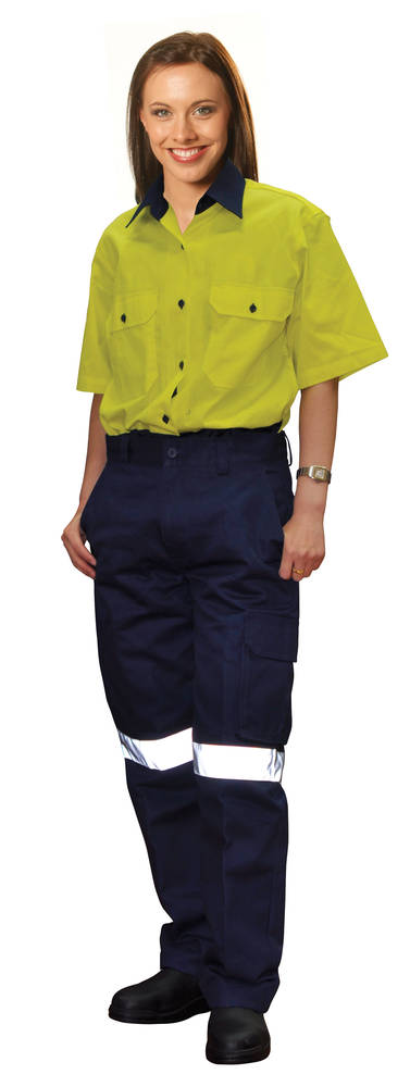 Ladies Heavy cotton drill cargo pants