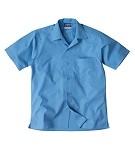 FCW - Boys open neck straight hem polyester cotton poplin shirt