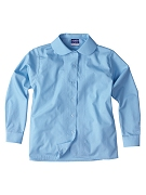 Girls long sleeve pin tuck blouse