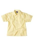 Girls short sleeve polyester cotton Peter Pan blouse